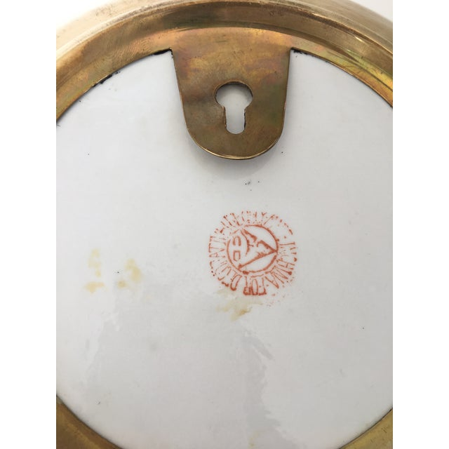 Large Size - Tobacco Leaf Pattern Brass Encased Porcelain Bowl/Catchall For Sale - Image 11 of 13
