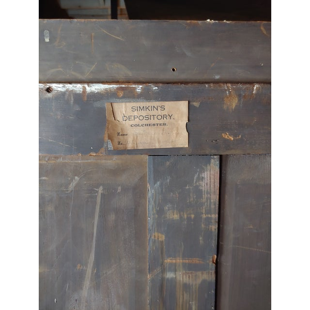 Brown 19th Century English Rare Antique Archival Portfolios & Maps Rack Shelf For Sale - Image 8 of 9