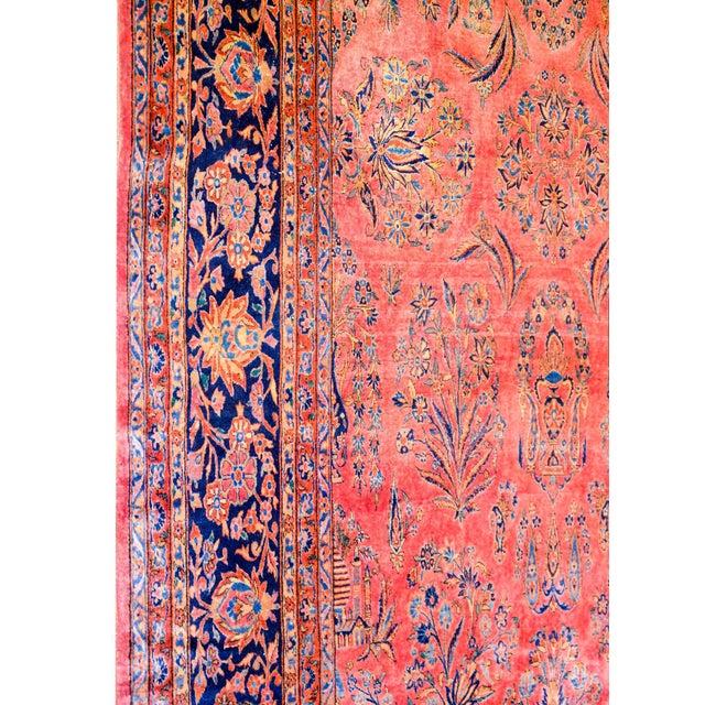 1920 Persian Kashan Rug For Sale - Image 4 of 9