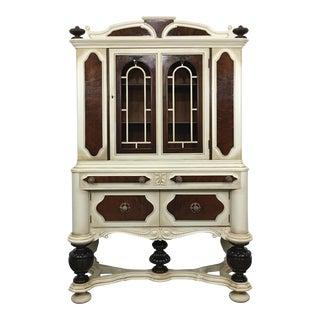 Antique Jacobean China Cabinet, Circa 1910 For Sale