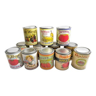Vintage Retro Food Tin Canisters - Set of 12 For Sale