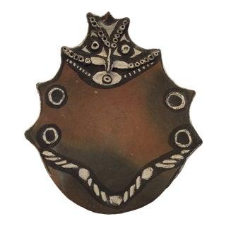 20th Century Tribal Decorative Ceramic Dish For Sale