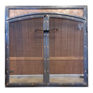 Fireplace Screen Doors by Steve Lopes Blacksmith For Sale