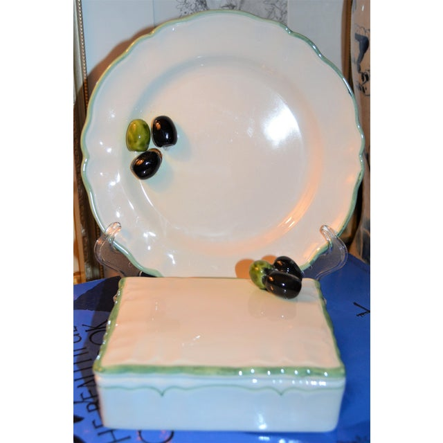 Vintage Mancioli Trompe l'Oeil Box and Plate - Image 3 of 11