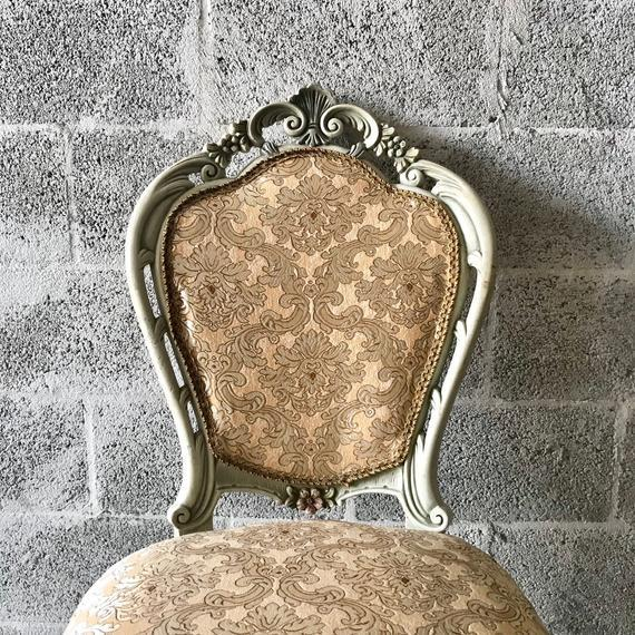 A wonderful pair of French Louis XVI Chairs. The chairs were recently re-upholstered with cotton & silk. The massive beech...