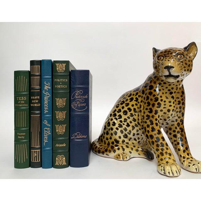 Manlio Trucco Italian Terra Cotta Large Leopard Figure For Sale - Image 10 of 11