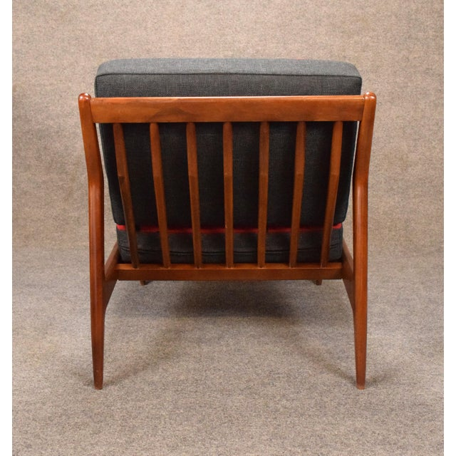 Red 1960s Mid Century Modern Kofod Larsen for Selig Red and Black Slipper Chair For Sale - Image 8 of 13