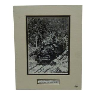 "1945 Matted Black & White ""Buffalo Creek & Gauley #13"" Photograph For Sale"