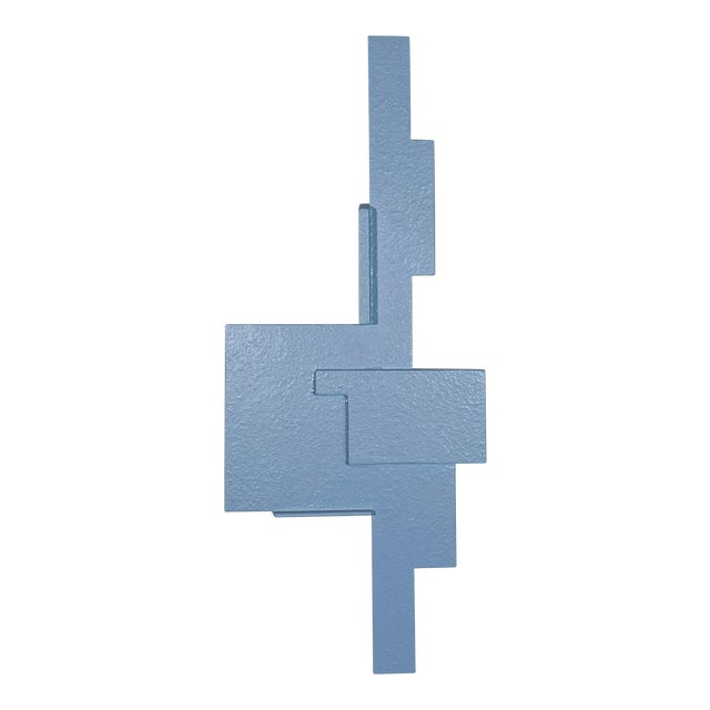 """""""Blue Assemblage"""" Contemporary Abstract Wall Sculpture by James Worsham For Sale"""