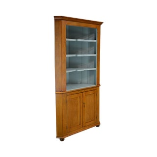 Country Pine Antique 19th Century Corner Cabinet For Sale