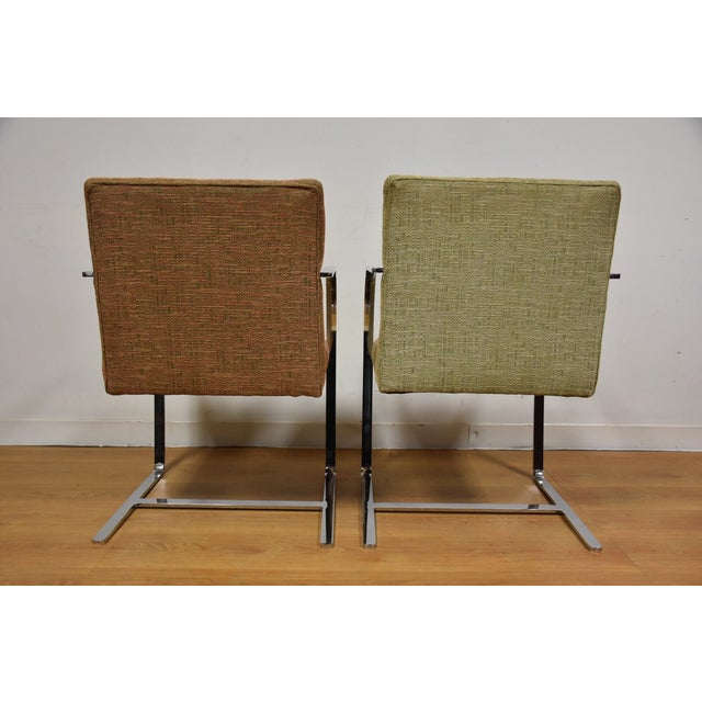 Cy Mann Chrome Flat Bar Lounge Chairs - a Pair - Image 4 of 9