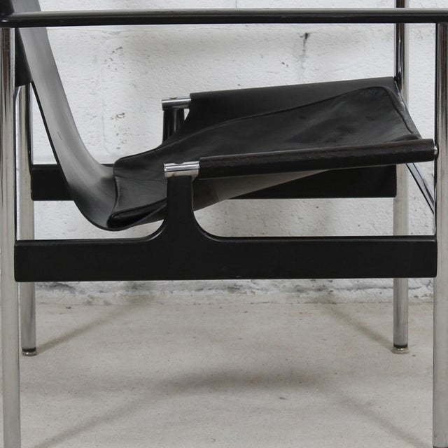 Leather & Chrome Sling Chair, #657, by Charles Pollack for Knoll For Sale In Washington DC - Image 6 of 10