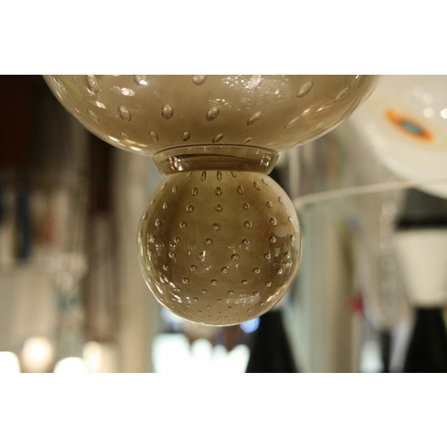 """Seguso """"Bulicante"""" Glass Sconces - A Pair For Sale - Image 6 of 7"""
