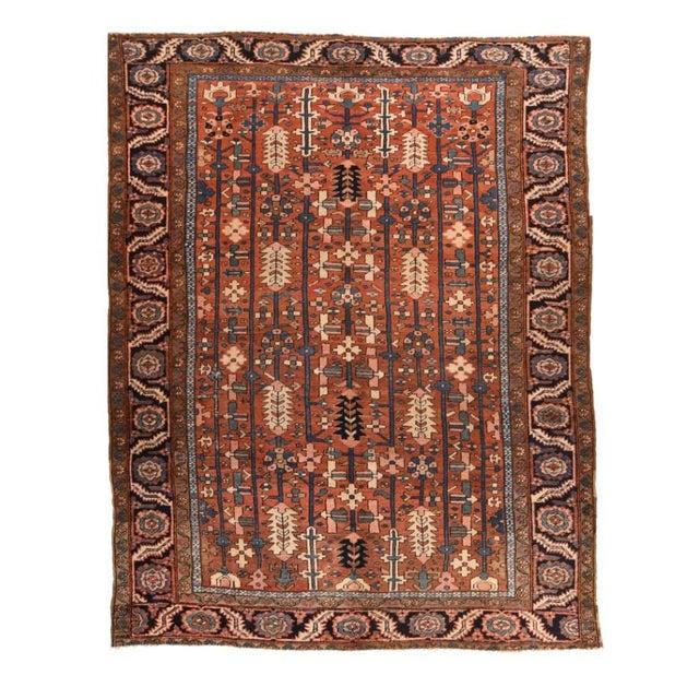 1910s Antique Handmade Heriz Persian Rug For Sale - Image 5 of 5