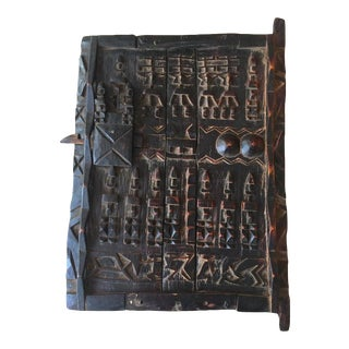 Antique African Hand Carved Dogon Door For Sale