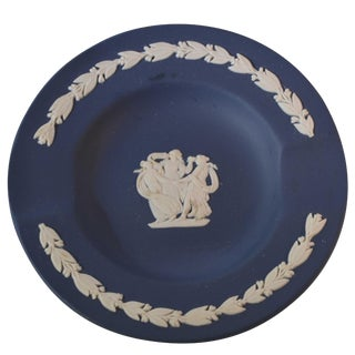 Vintage Wedgwood Jasperware Ashtray Navy Color For Sale