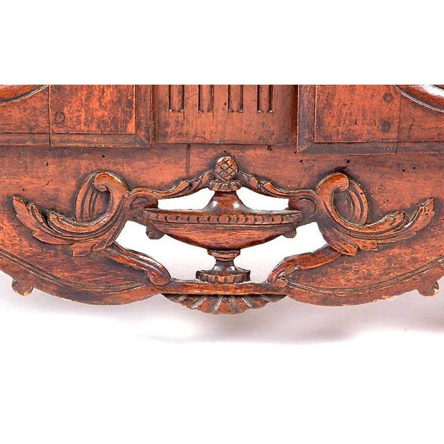 French Provençal Fruitwood Buffet With Carved and Pierced Skirt For Sale - Image 4 of 10