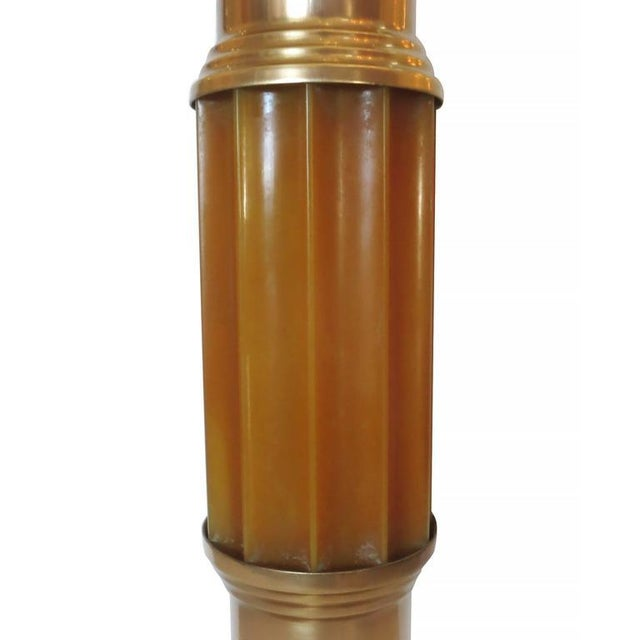 Art Deco Celluloid and Brass Table Lamp For Sale - Image 4 of 6