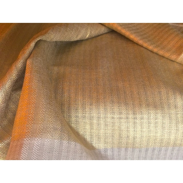 Designer's Guild Sassiere Gold Linen Wide Width Fabric - 2.25 Yards For Sale In Kansas City - Image 6 of 10