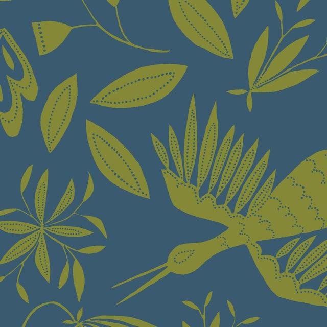 Transitional Julia Kipling Otomi Grand Wallpaper, Sample, Walnut Lake For Sale - Image 3 of 3