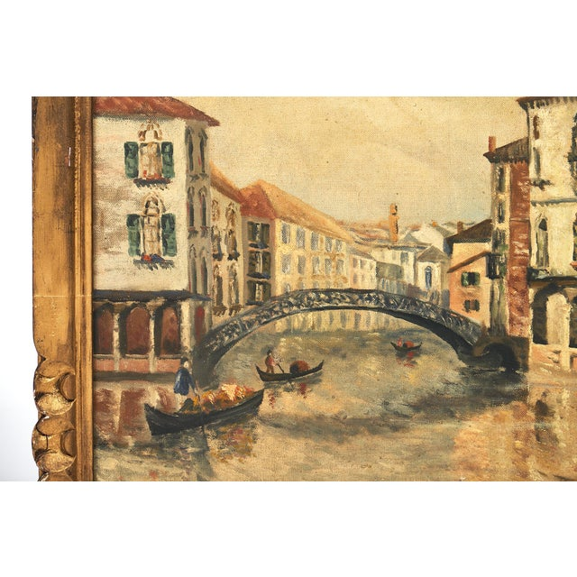 Antique Oil on Canvas of Venice For Sale In Austin - Image 6 of 10