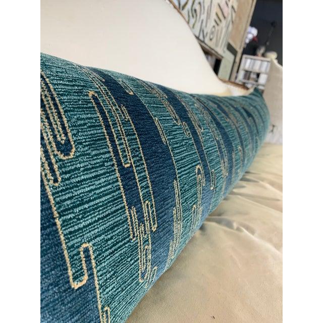 Sora Velvet Lumbar Pillow With Ivory Silk Back For Sale In San Antonio - Image 6 of 10