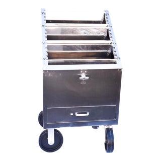 Vintage Medical Rolling Bar Cart