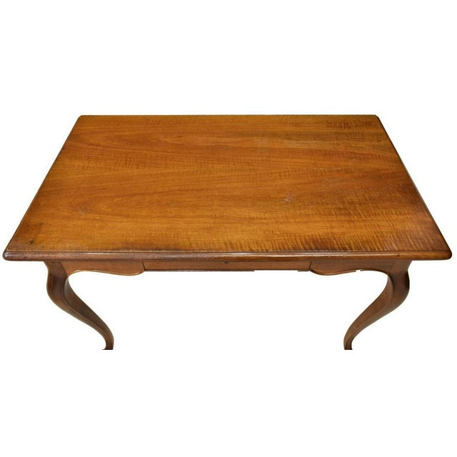 Vintage Louis XV Style Cherry Wood Italian Writing Desk For Sale In Denver - Image 6 of 13