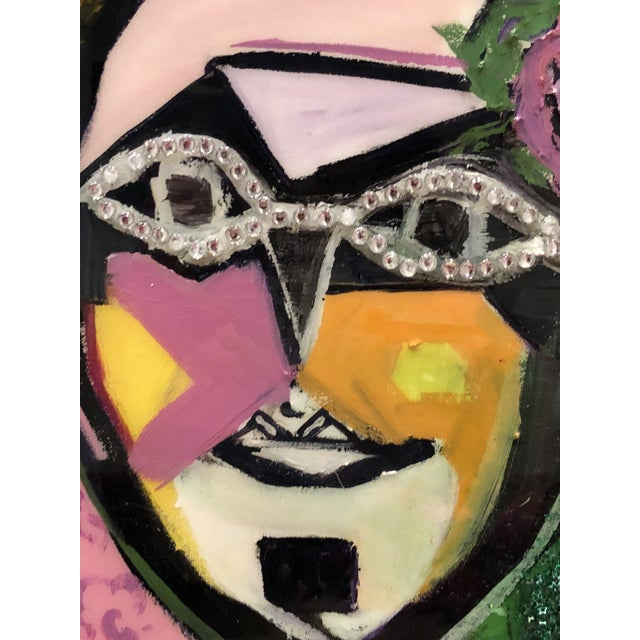 """Abstract """"Yo Tambien a La Bling"""" Painting by J J Justice For Sale - Image 3 of 11"""
