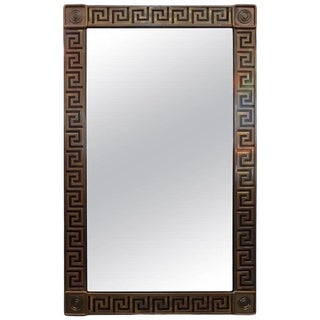 Mastercraft Brass Greek Key Beveled Mirror For Sale