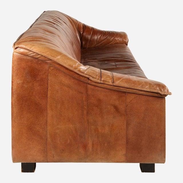 Mid-Century Modern De Sede Brown Sofa For Sale - Image 3 of 6