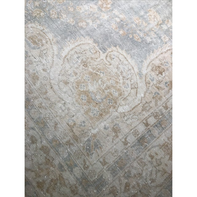 "Distressed Turkish Oushak Rug - 9'5"" X 12'8"" - Image 9 of 9"