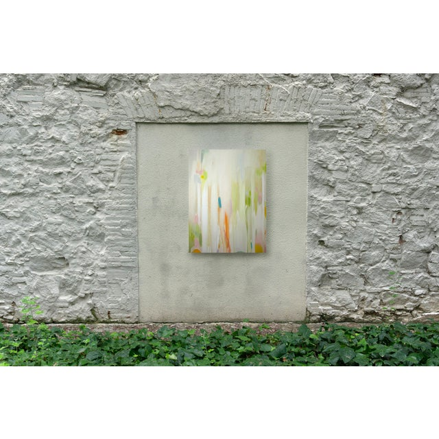 Contemporary Oil on Canvas Painting of Faded Forest Scene For Sale In Miami - Image 6 of 7