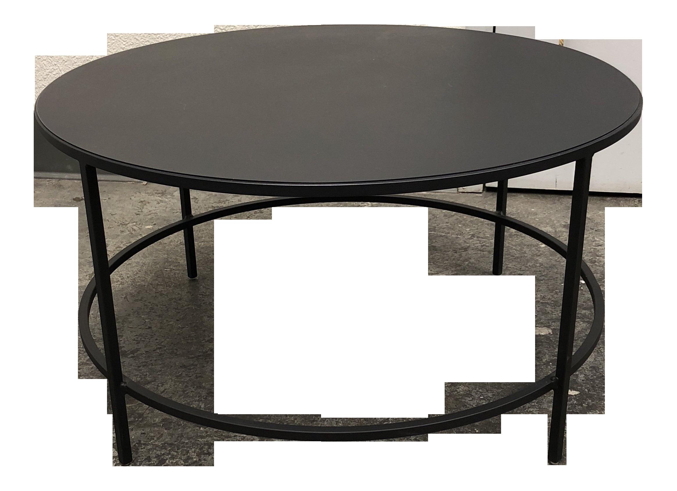 Rustic Room U0026 Board Round Steel Coffee Table