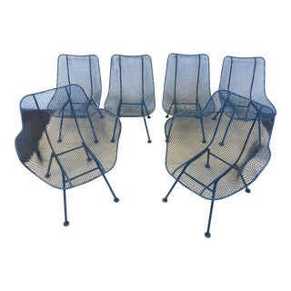 Vintage Original Russell Woodard Sculptura Patio Chairs - Set of 6 For Sale