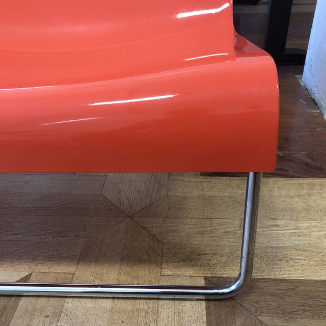 Chrome Kartell Piero Lissoni Orange Form Lounge Chairs - a Pair For Sale - Image 7 of 10