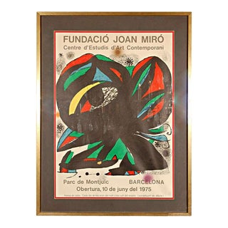 """Original Poster by Miró for the Opening of the """"Fundació Joan Miró,"""" 1975 For Sale"""