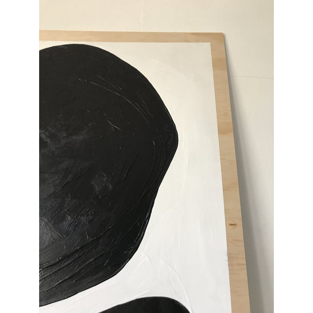 Abstract Magnolia Monochrome Diptych Oversized Paintings - 2 Pc. For Sale In Los Angeles - Image 6 of 13