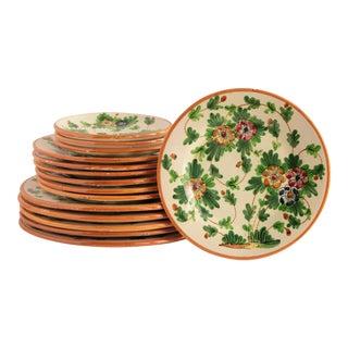 Fratelli Fanciullacci Italian Majolica Dinner Plates - Set of 15 For Sale