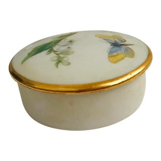 1960s Vintage Limoges French Butterfly Box For Sale