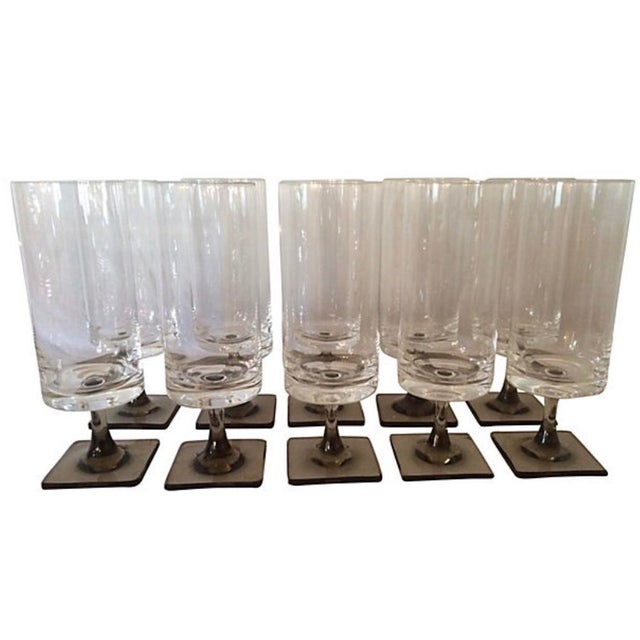 Mid 20th Century Vintage Mid-Century Modern Rosenthal Linear Stemware - Set of 16 For Sale - Image 5 of 6