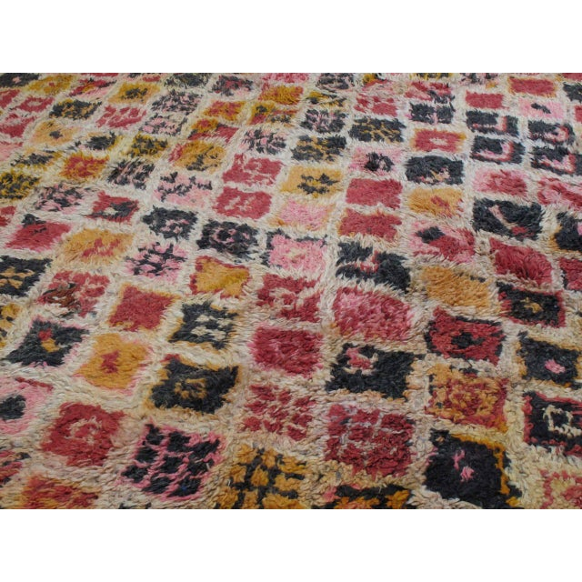 Boho Chic Ait Youssi Moroccan Berber Rug For Sale - Image 3 of 10