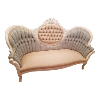 Vintage Victorian Style Settee For Sale
