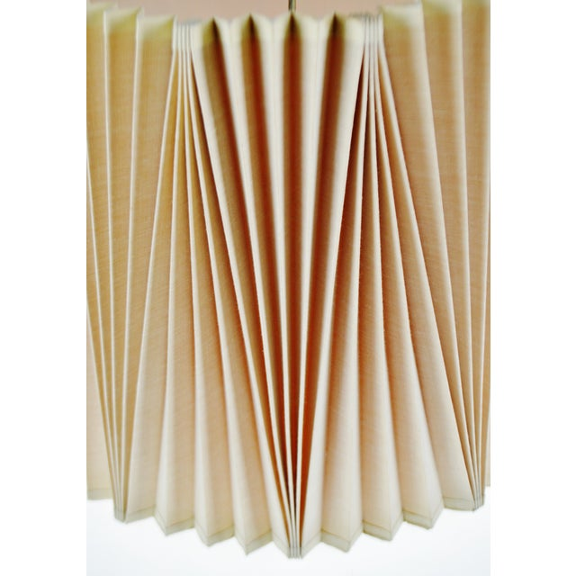 Textile Vintage Large Stiffel Empire Style Pleated Fabric lampshade For Sale - Image 7 of 11