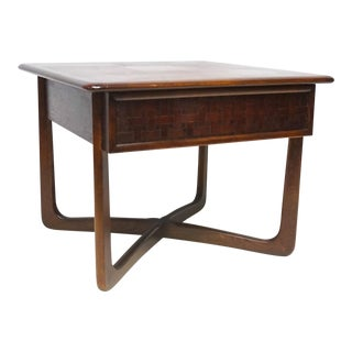 1960s Mid Century Modern Lane Perception Walnut Side Table For Sale