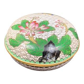 Vintage Floral Cloisonné Box For Sale