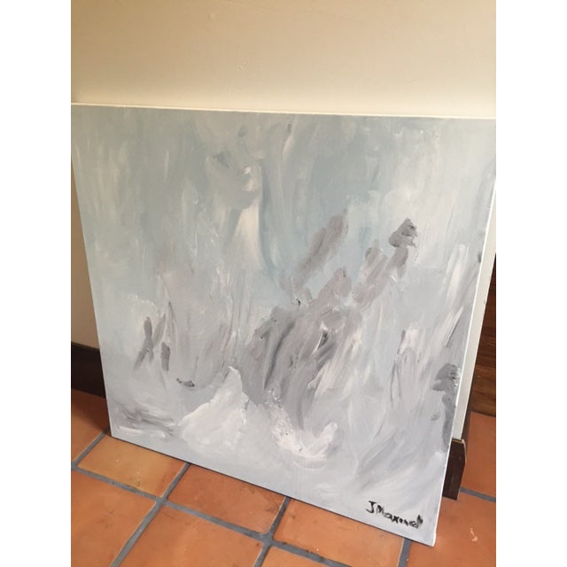 """""""Untitled #2"""", Gray Abstract Painting - Image 3 of 8"""