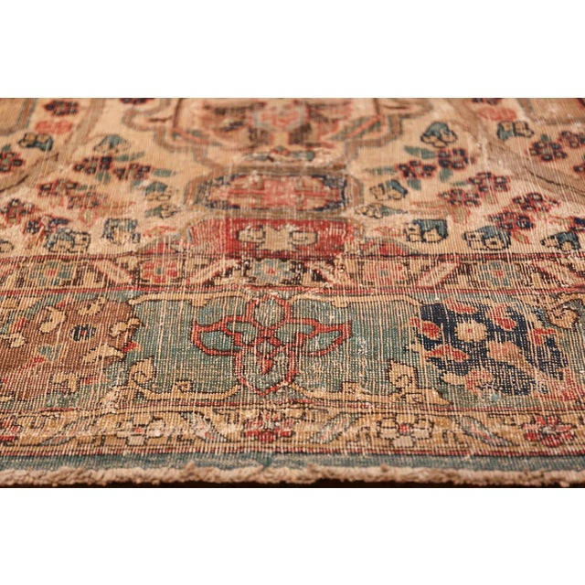Textile 17th Century Small Size Persian Khorassan Rug For Sale - Image 7 of 13