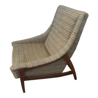 Mid-Century Danish Modern Adrian Pearsall Style Lounge Chair For Sale