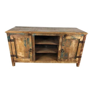 Rustic Distressed Wood Cabinet